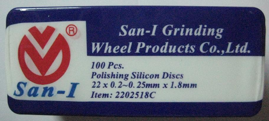 San-I Polishing Silicon Discs,22x0.2-0.25mmx1.8mm