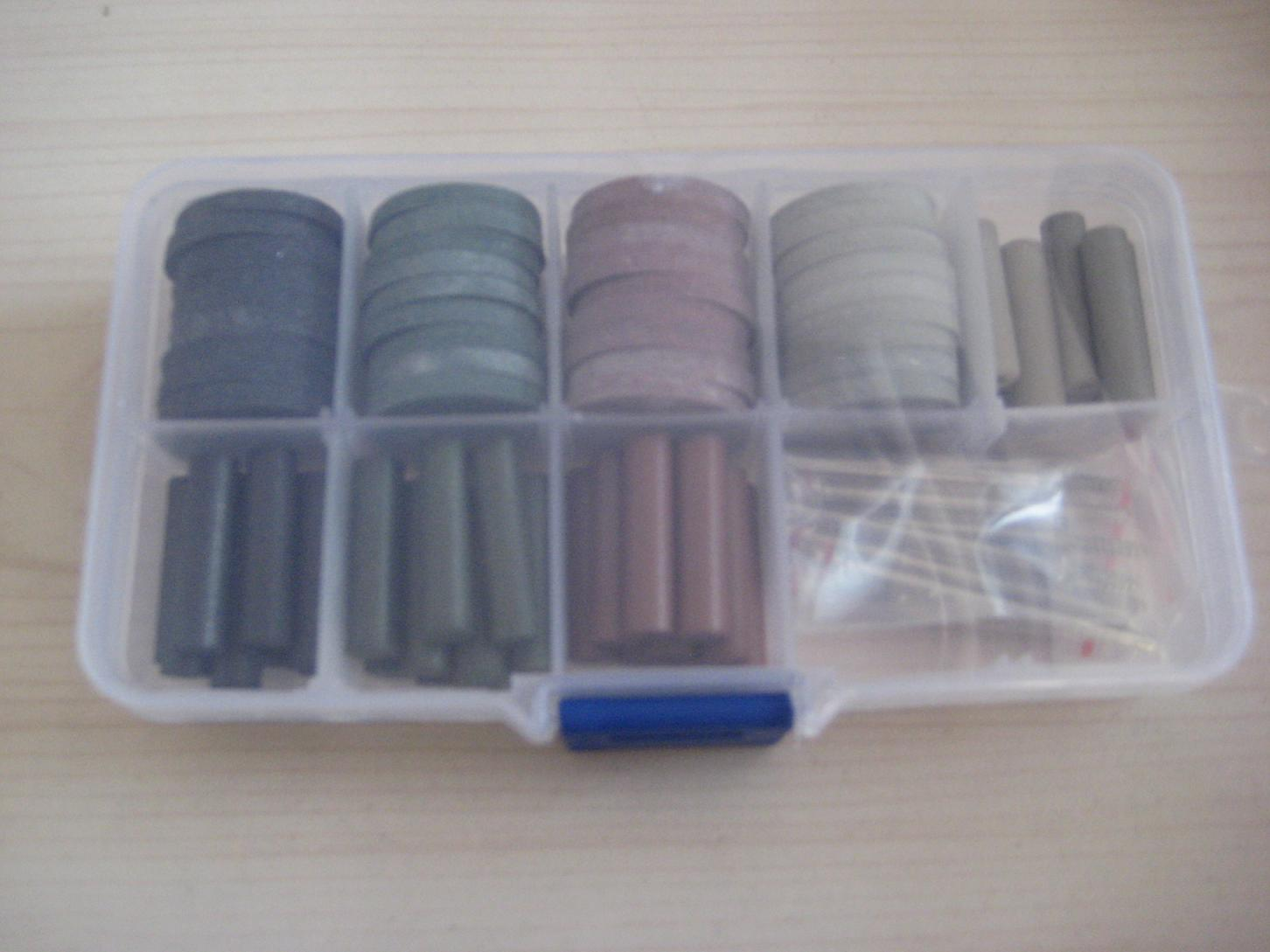 Abrasive Kit,Rubber wheels,points and Mandrels