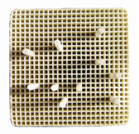 Honeycomb Firing Tray,square,Ceramic pins,65mm*65mm