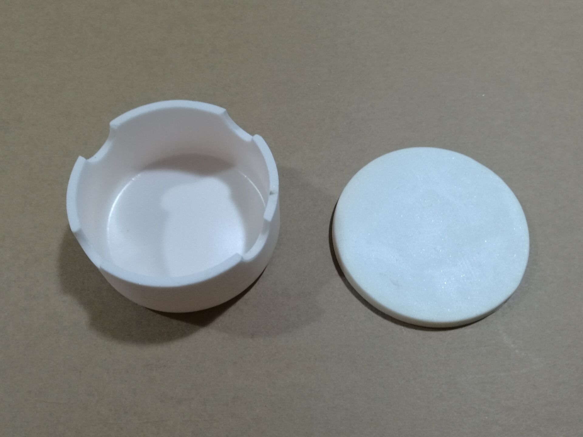 Sinter Bowl,75mm x35mm,With Lid,Grooved side