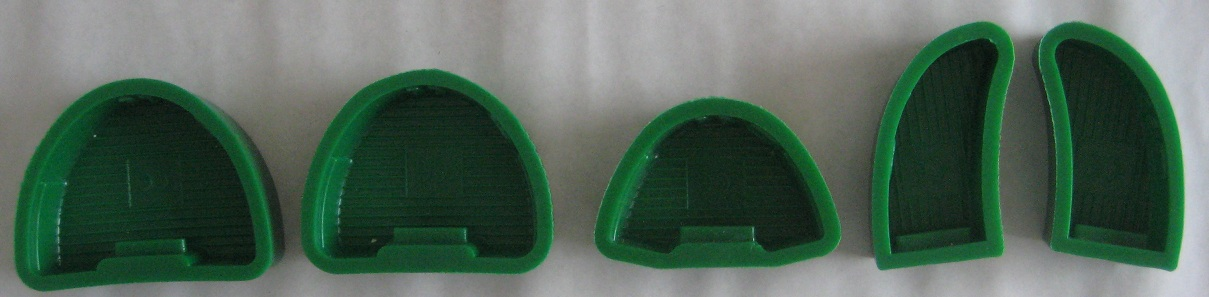 Silicone Model Base Mould,Round side,L,M.S,Left,Right