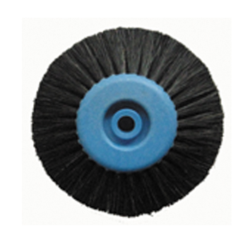 Polishing brush,Plastc core,4-ply,long and oblique hair