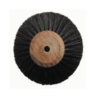 Polishing brush,Wooden core,4-ply,long,oblique hair