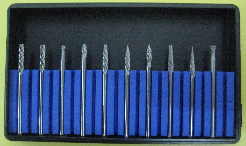 Carbide Bur Set,10pcs/box,Tip Diameter:2.35mm